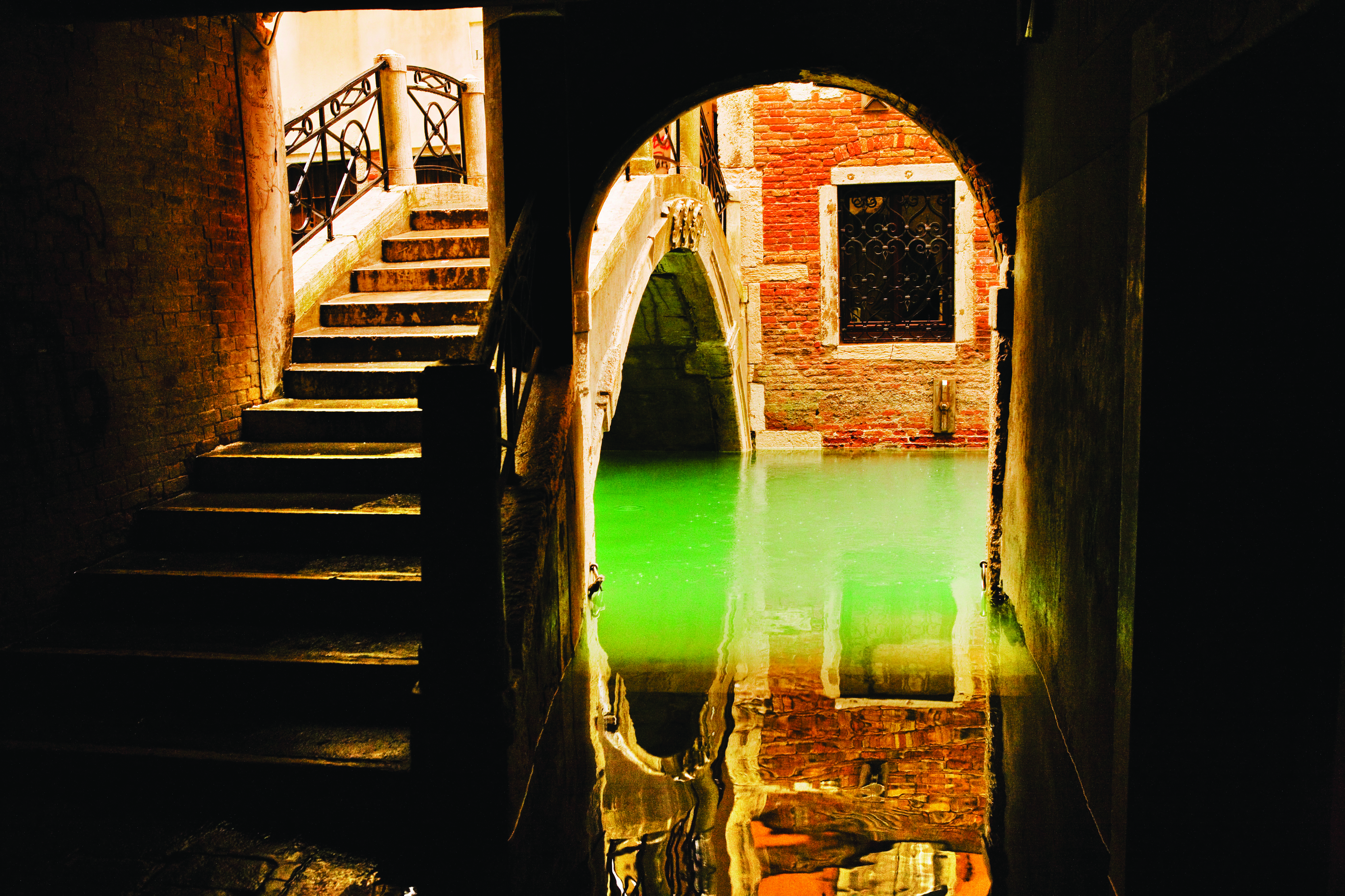 Venice, Italy --- Typical canal during Acqua Alta (High Tide) --- Image by © Atlantide Phototravel/Corbis